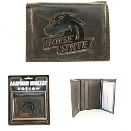 Boise State Broncos Black Tri Fold Wallet