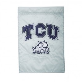 "TCU Horned Frogs  12.5"" x 18"" Two Sided Applique Garden Flag"