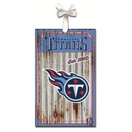 Tennessee Titans Corrugated Metal Ornament