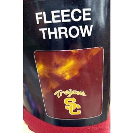 NCAA USC Trojans Large Logo Fleece Throw Blanket