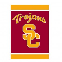 "NCAA Licensed USC Trojans Outdoor Decorative Silk Screen 28"" x 40"" House Flag"