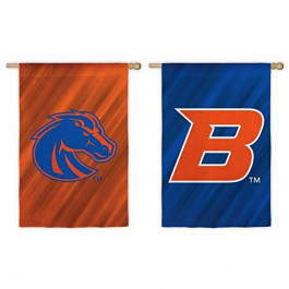"""NCAA Licensed Boise State Broncos Double Side Outdoor Decorative Suede 12.5"""" x 18"""" Flag"""