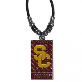 USC Trojans Diamond Plate Rope Necklace, 20-Inch