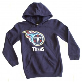 NFL Officially Licensed Tennessee Titans Reflective Gold Outline Logo Youth Hoodie (Small 8)