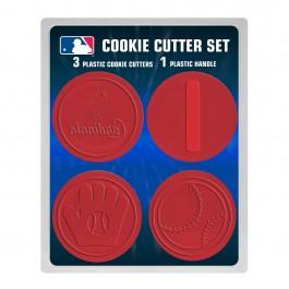 MLB Licensed 4 piece Plastic Cookie Cutter Set (St. Louis Cardinals)