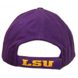 the latest 4a504 cd35a NCAA Officially Licensed LSU Tigers Structured Embroidered Purple Baseball  Hat Cap Lid