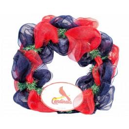 "MLB Licensed St Louis Cardinals 15"" Mesh Christmas Wreath"