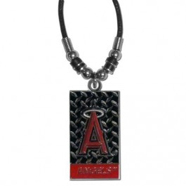 LA Angels Diamond Plate Rope Necklace, 20-Inch