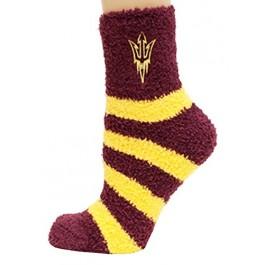 Arizona State Sundevils Striped Fuzzy Lounge Socks