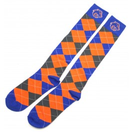 Boise State Broncos Orange and Blue Argyle Dress Socks