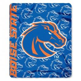 Boise State Broncos Side Bar Fleece Throw Blanket