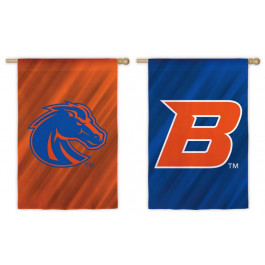 """Boise State Broncos Double Sided Sub Suede Flag 29"""" X 43"""""""
