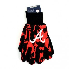 MLB  Atlanta Braves Team Color Camo Utility Gloves