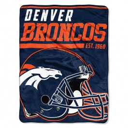 "Denver Broncos 40 Yard Dash 46"" X 60"" Super Plush Fleece Throw"
