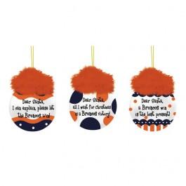 Denver Broncos 3 pc. Team Sayings Ornaments