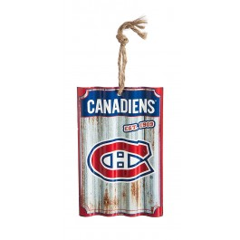 Montreal Canadiens Corrugated Metal Sign Ornament