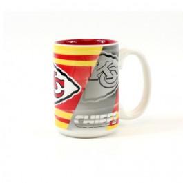 Kansas City Chiefs 15oz Shadow Ceramic Mug