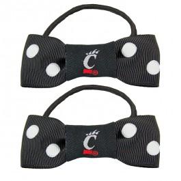 Cincinnati Bearcats Bow Pigtail Holders