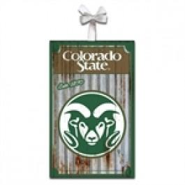 Colorado State Rams Corrugated Metal Ornament