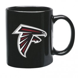 Atlanta Falcons 15 oz Black Ceramic Coffee Cup