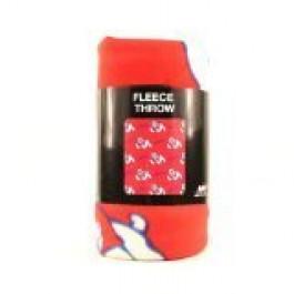 Fresno State Bulldogs 3 Bar Repeater Fleece Throw Blanket