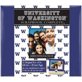 "Washington Huskies 8"" X 8"" Complete Scrapbook Kit"