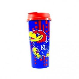 Kansas Jayhawks 16-ounce Insulated Travel Mug