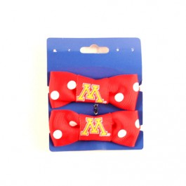 Minnesota Golden Gophers Bow Pigtail Holders