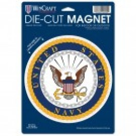 "United States Navy 6.5"" X 9"" Die-Cut  Magnet"