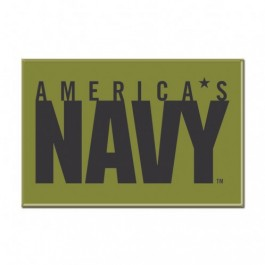 "United States Navy 2.5"" X 3.5"" Metal Magnet"
