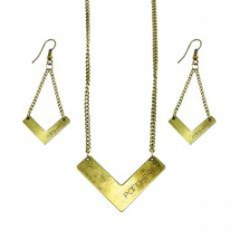 Pittsburgh Panthers Chevron Necklace and Earrings Set