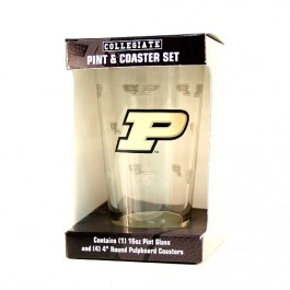 Purdue Pint and Coaster Set
