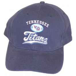 Tennessee Titans Crown Script Adjustable Hat