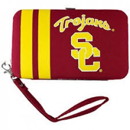 "USC Trojans Distressed Wallet Wristlet Case (3.5"" X .5"" X 6"")"
