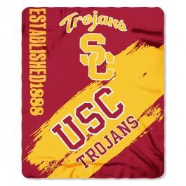 USC Trojans Established Painted Fleece Throw