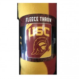 USC Trojans Logo Fleece Throw Blanket