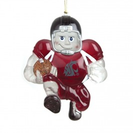 Washington State Cougars Acrylic Running Back Ornament