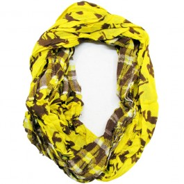 Wyoming Cowboys Tartan Plaid Infinity Scarf