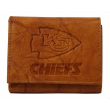Kansas City Chiefs Brown Leather Tri Fold Wallet