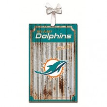 Miami Dolphins Corrugated Metal Ornament