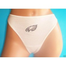 NFL Licensed Philadelphia Eagles Women's White Panties Underwear Size Medium (6)