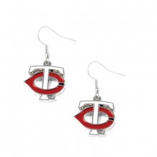 Minnesota Twins TC Logo Dangle Earrings