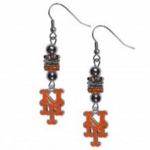 New York Mets Euro Bead Earrings