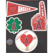 LA Angels 4 Piece Team Magnet Set