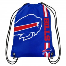 Buffalo Bills Large Logo Stripe Team Cinch Drawstring Backpack
