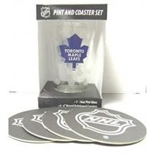 Toronto Maple Leafs Pint and Coaster Set