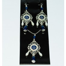 Dallas Cowboys Baroque Necklace and Earring Set
