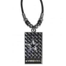 Dallas Cowboys Diamond Plate Rope Necklace, 20-Inch