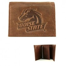 Boise State Broncos Brown Tri Fold Wallet