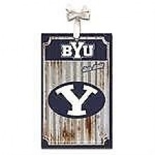 Brigham Young Cougars Corrugated Metal Ornament